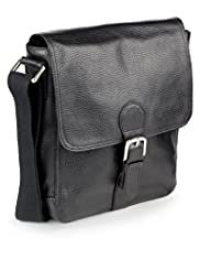 Leather Buckle Man Bag