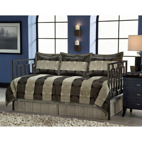 Southern Textiles Southern Textiles Skyline Daybed Ensemble, Tan, 100% Polyester, Daybed front-952093