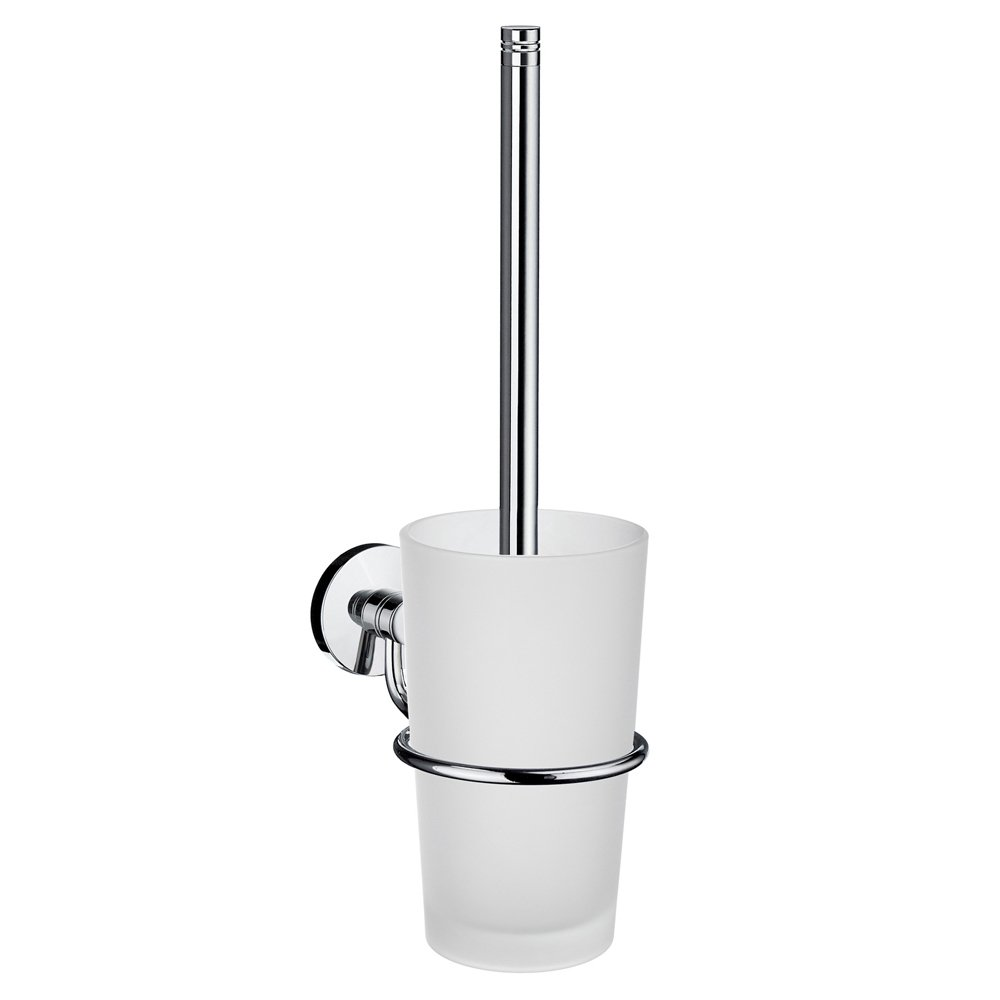 Smedbo Bathroom Decorative Hardware Accessories Studio Toilet Brush, Polished Chrome chrome plated brass toilet brush holders wall mounted luxury wc brush head ceramic cup holder hardware bath room accessories set