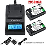 Kastar Ultra Fast Charger(3X faster) Kit and LP-E6 Battery (2-Pack) for Canon LP-E6, LP-E6N, LC-E6, LC-E6E work with Canon EOS 5DS, EOS 5DS R, Canon EOS 5D Mark II, EOS 5D Mark III, EOS 6D, EOS 7D, 7D Mark II, EOS 60D, EOS 60Da, EOS 70D, EOS 80D, XC10, EOS Digital SLR Cameras and BG-E16, BG-E14, BG-E13, BG-E11, BG-E9, BG-E7, BG-E6 Grips