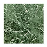 MAX KD0108 Green Marble Peel & Stick Vinyl Floor Tile, 12 x 12