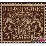 sellos para coleccionistas: Baviera d16w examinado, encendido papel de paz con engomado de paz con charnela 1916...
