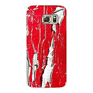 Ajay Enterprise Elite Red Ripped Paint Print Back Case Cover for Samsung Galaxy S6 Edge Plus