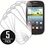Galaxy Fame Screen Protector Cover, MPERO Collection 5 Pack of Clear Screen Protectors for Samsung Galaxy FAME
