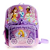 Disney Little Girls'  Princess Backpack with Lunch Set, Pink, One Size