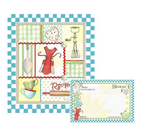 Retro Aprons Recipe Binder and Recipe Cards Set (Recipe Book Set compare prices)
