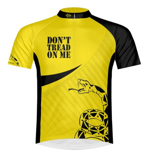 New Primal Wear Don't Tread on Me Gadsden Flag Cycling Jersey Men's XL Short Sleeve