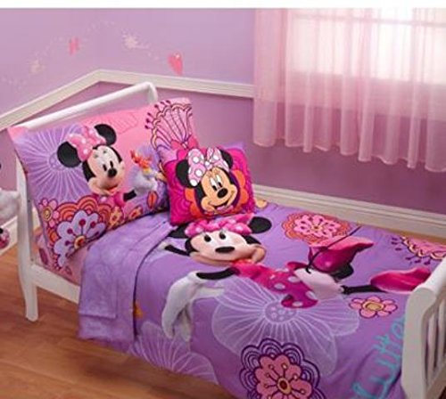 Disney Minnie Mouse Fluttery Friends 4pc Toddler Bedding Set
