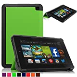 Britainbroadway 2014 Fire HD 6 Case Cover - Tri-Fold Ultra Slim Stand Case Cover With Smart Cover Auto Wake/Sleep Case For Amazon New Kindle Fire HD 6.0 Inch 4th Generation Tablet (Fire HD 6, Green)
