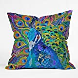 DENY Designs Elizabeth St Hilaire Nelson Cocophony of Color Throw Pillow, 18-Inch by 18-Inch