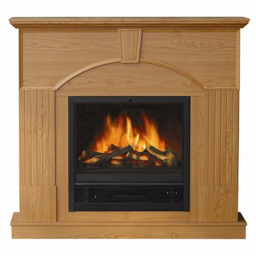 Yosemite Home Decor Df-Mp47 47-Inch Shiva Classic Electric Fireplace Mantel Package With Faux Wood Logs