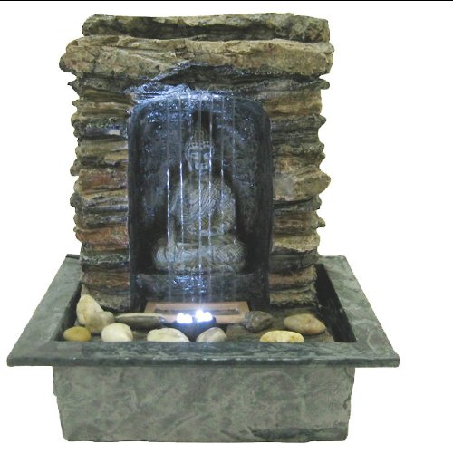 Fontaine int rieure mur d eau miroir en inox pictures to for Fontaine exterieur zen