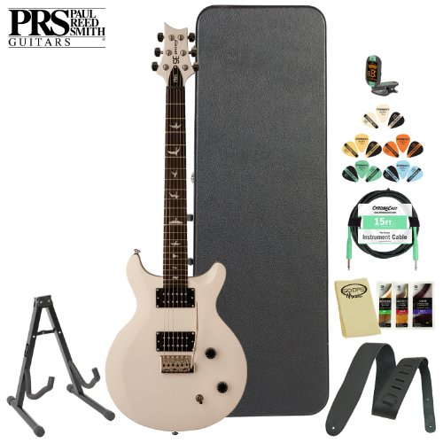 Prs Se Carlos Santana (Csjw) Jet White Electric Guitar W/ Accessories & Hard Case