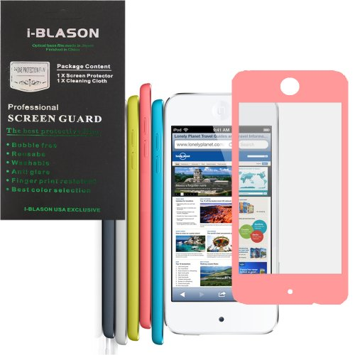 i-Blason HD Clear Matte Bubble Free Screen Protector for Apple iPod Touch 5th Generation iTouch 5 5G Reusable Multi Color (Pink)