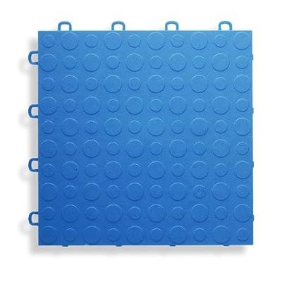 BlockTile B0US4530 Garage Flooring Interlocking Tiles Coin Top Pack, Royal Blue, 30-Pack