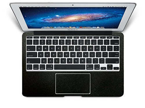 "Bingobuy® High Quality Matte Customized Free Cut Full Wrist Palm Rest Palmrest Guard Shield Cover Skin With Trackpad Protector For 11.6"" Apple Macbook Air Model No. A1370 Or A1465 (Matte Black)"