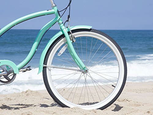 Firmstrong Chief Lady Seven Speed Beach Cruiser Bicycle 26Inch Mint Green