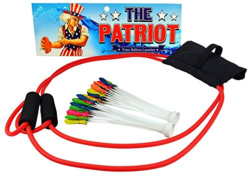 The Patriot Water Balloon Launcher Game - Backyard Slingshot Toy - Includes 2 Fill & Tie Bunches