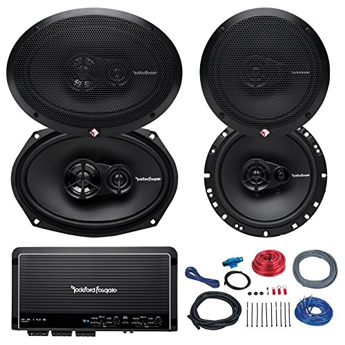 Click to buy Car Speaker And Amp Combo of 2x Rockford Fosgate R165X3 Prime 6.5