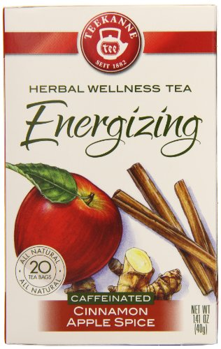 Teekanne Energizing Cinnamon Apple Spice, 20-Count Boxes (Pack Of 6)