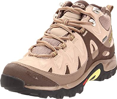 Salomon Women's Exit Peak Mid 2 GTX Lite Hiking Shoe,Foundation/Shrew/Light Moss,5 M US