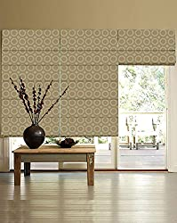 PRESTO BAZAAR 1 Piece Polyester & Cotton Geometrical Blind - Yellow