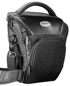 Mantona PRO NOVO SLR kompakte Kameratasche Colttasche schwarz (mit Beckengurt, Gurttunnel) für zum Beispiel -- Canon EOS 70D 60D 600D 650D 700D 1100D 1200D -- Nikon D610 D3100 D3200 D3300 D5200 D5300 D5500 -- Sony SLT A58 A3000 (und viele mehr, siehe Produktdetails)