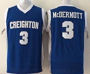 Men's Creighton Bluejays NO.3 McDERMOTT Basketball Jersey NCAA Basketball Jersey for Men