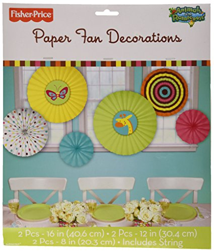 Fisher Price® Baby Paper Fan Decorations Pkg/6