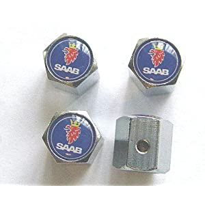 Saab Anti-theft Car Wheel Tire Valve Stem Caps
