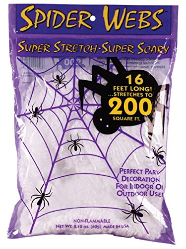 Fun World Costumes Spider Web White- 200Ft