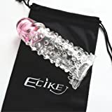 Ecike(TM) Vibrating Crystal Brave Men Penis Extension Sleeve - Penis Enlarge Sleeve - Penis Enlargement Extender - Sex Time Extender - Improvement Sexual Durability - Contains Small Vibrator