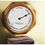 Oak Frame Day Clock Timepiece Home Accent Decor