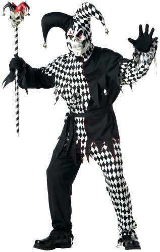 California Costumes Men's Adult- Black Evil Jester Costume