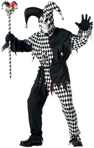 Men's Evil Jester Halloween Costume