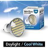 MiniSun Branded 3W Super Bright GU10 LED Bulb with 58 x SMD LEDs - 420 Lumens - Daylight