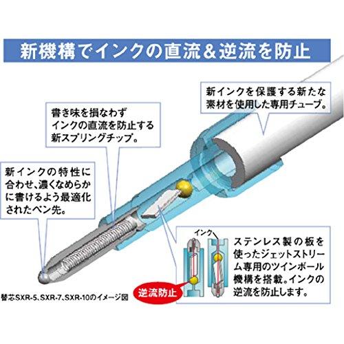 Mitsubishi-Stylo bille-core 5 pièces de rechange pour jet-stream SXR 5P-Noir - 5 (Japon Allemagne)