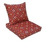 Bossima Indoor/Outdoor Red Damask Dee...