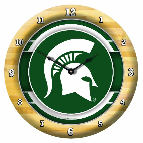 NCAA Michigan State Spartans Game Time Clock