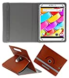 ACM ROTATING 360° LEATHER FLIP CASE FOR AMBRANE AQ880 TABLET STAND COVER HOLDER BROWN