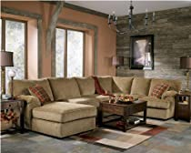 Hot Sale Contemporary Bartlett Caramel Fabric 3 Pc Sectional With Left Arm Facing Chaise