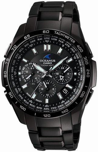 CASIO (カシオ) 腕時計 OCEANUS オシアナス Classic Line クラシックライン タフソーラー 電波時計 TOUGH MVT MULTIBAND6 OCW-T600TDB-1AJF メンズ