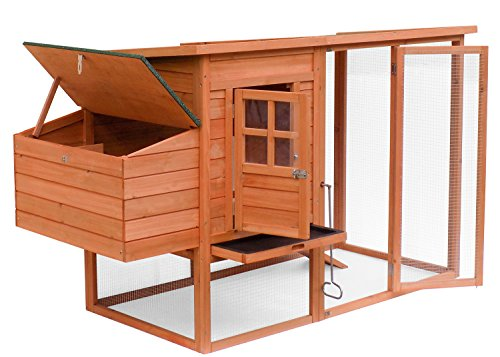 Merax Pet Supplies Wood House Chicken Coop with Egg Crate