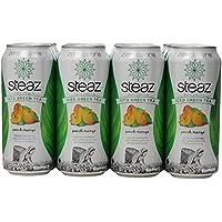12-Pack Steaz Zero Calorie Iced Green Tea Peach Mango (16 Ounce)