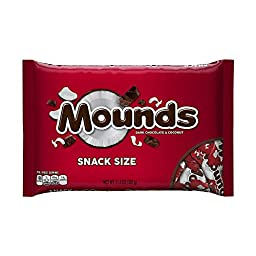 MOUNDS Candy Bar Snack Size, 11.3 Ounces (Pack of 6)