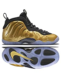 Nike Little Posite One Foamposite (GS) 644791-700 Gold Kids Basketball Shoes Size 5.5Y
