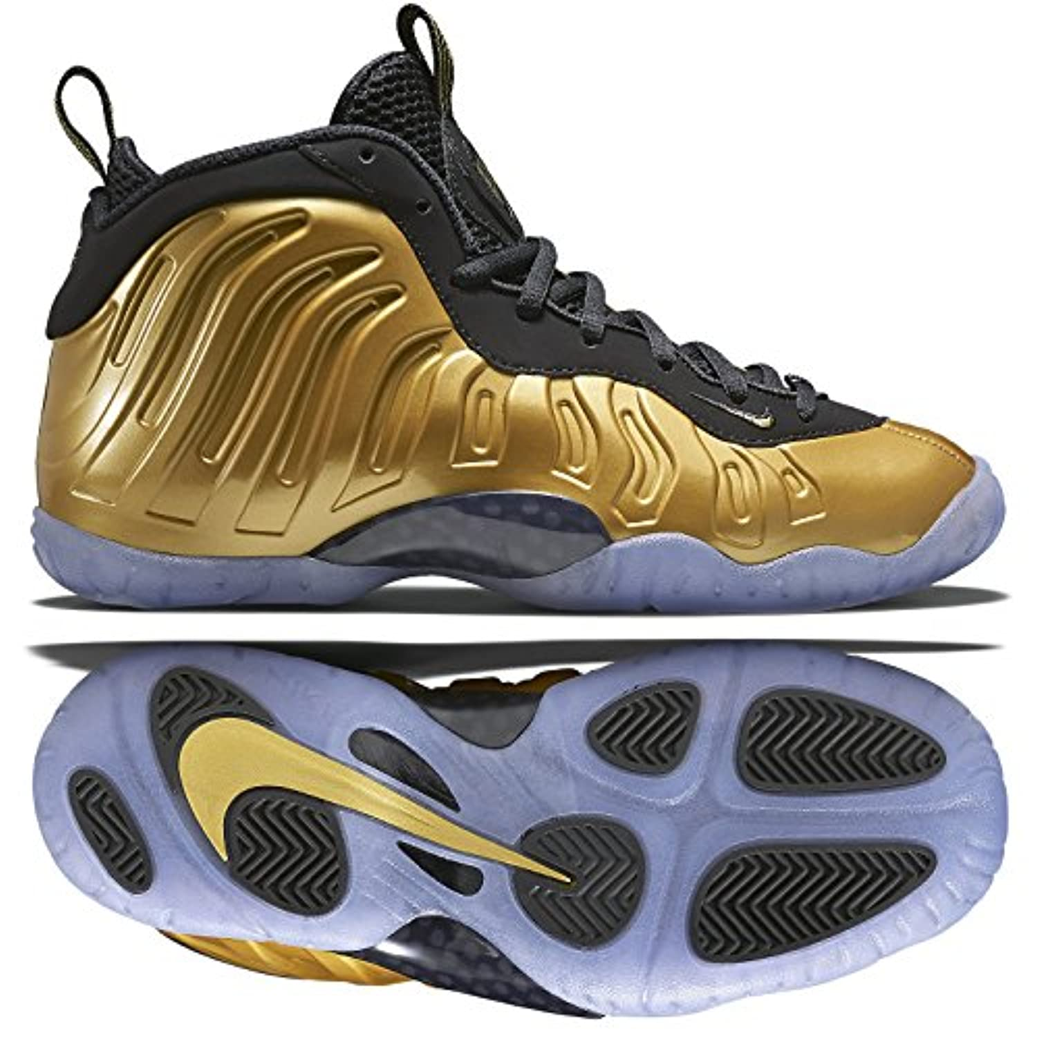 save off 32035 47d21 ... usa nike little posite one foamposite gs 644791 700 gold kids  basketball shoes size a877b ddc53