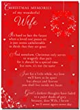 Grave Card - Christmas Memory of my Wonderful Wife - Free Card Holder - CMX04