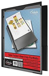 iScholar Heavy Duty Poly View Twin Pocket Portfolio, Color May Vary (30440)