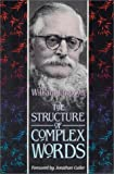 The Structure of Complex Words (0674843754) by William Empson